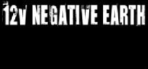12v Negative Earth logo