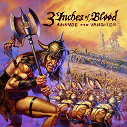 "3 Inches Of Blood - ""Advance and Vanquish"" CD cover image"