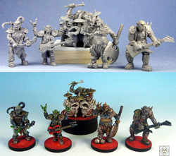"A Band of Orcs - ""The Gore Stained Axe Tribe Gaming Miniatures"" Other Products cover image"