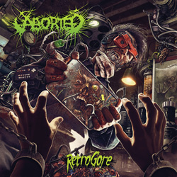 "Aborted - ""Retrogore"" CD cover image"