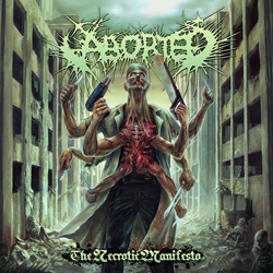 "Aborted - ""The Necrotic Manifesto"" CD cover image"