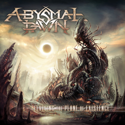 "Abysmal Dawn - ""Leveling The Plane of Existence"" CD cover image - Click to read review"