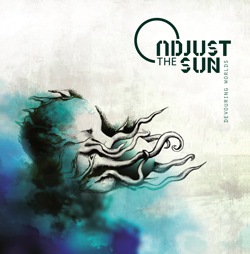 "Adjust The Sun - ""Devouring Worlds"" CD cover image - Click to read review"