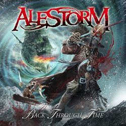 "Alestorm - ""Back Through Time"" CD cover image"