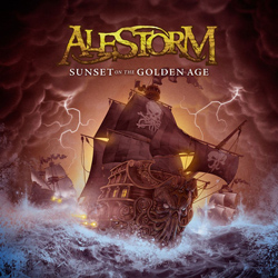 "Alestorm - ""Sunset On The Golden Age"" CD cover image"