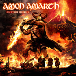 "Amon Amarth - ""Surtur Rising"" CD cover image - Click to read review"