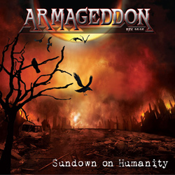 "Armageddon Rev. 16:16 - ""Sundown on Humanity"" CD cover image"