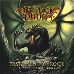 "Astral Doors - ""Testament of Rock - The Best of Astral Doors"" CD cover image"