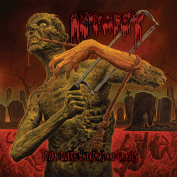 "Autopsy - ""Tourniquets, Hacksaws and Graves"" CD cover image"