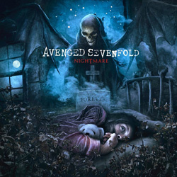 "Avenged Sevenfold - ""Nightmare"" CD cover image - Click to read review"
