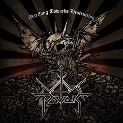 "Axis Powers - ""Marching Towards Destruction"" CD cover image - Click to read review"
