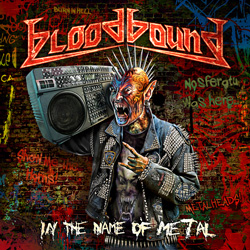"Bloodbound - ""In The Name Of Metal"" CD cover image - Click to read review"