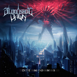 "Bloodshot Dawn - ""Demons"" CD cover image - Click to read review"