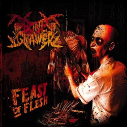 "Bone Gnawer - ""Feast of Flesh"" CD cover image"