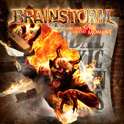 "Brainstorm - ""On The Spur Of The Moment"" CD cover image - Click to read review"