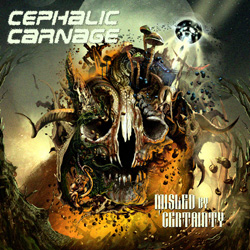"Cephalic Carnage - ""Misled By Certainty"" CD cover image - Click to read review"