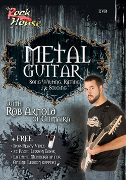 "Chimaira - ""Metal Guitar: Song Writing, Riffing & Soloing"" DVD cover image - Click to read review"