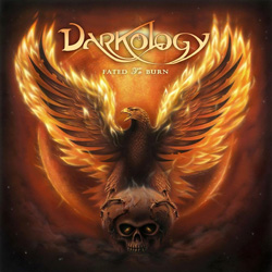 "Darkology - ""Fated To Burn"" CD cover image - Click to read review"