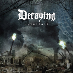 "Decaying - ""Devastate"" CD cover image"