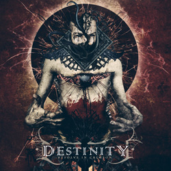 "Destinity - ""Resolve in Crimson"" CD cover image"