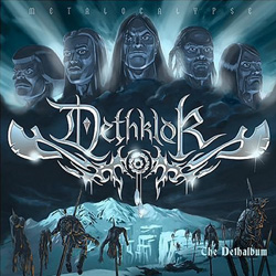 "Dethklok - ""The Dethalbum"" CD cover image - Click to read review"