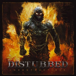 "Disturbed - ""Indestructible"" CD cover image - Click to read review"
