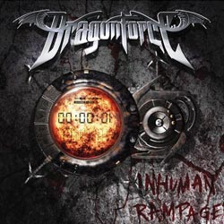 "Dragonforce - ""Inhuman Rampage"" CD cover image - Click to read review"