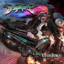 "Dragonforce - ""Ultra Beatdown"" CD cover image - Click to read review"