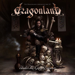 "Dragonland - ""Under The Grey Banner"" CD cover image"