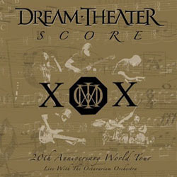 "Dream Theater - ""Score: 20th Anniversary World Tour Live with the Octavarium Orchestra"" CD cover image - Click to read review"