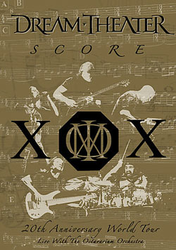 "Dream Theater - ""Score: 20th Anniversary World Tour Live with the Octavarium Orchestra"" DVD cover image - Click to read review"