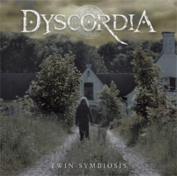 "Dyscordia - ""Twin Symbiosis"" CD cover image - Click to read review"