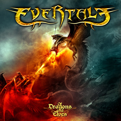 "Evertale - ""Of Dragons And Elves"" CD cover image"