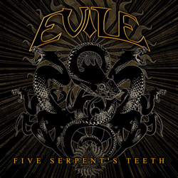 "Evile - ""Five Serpent's Teeth"" CD cover image - Click to read review"