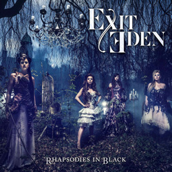 "Exit Eden - ""Rhapsodies in Black"" CD cover image"