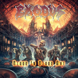 "Exodus - ""Blood In, Blood Out"" CD cover image - Click to read review"