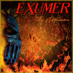 "Exumer - ""Fire & Damnation"" CD cover image"