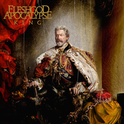 "Fleshgod Apocalypse - ""King"" CD cover image - Click to read review"