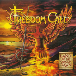 "Freedom Call - ""Land Of The Crimson Dawn"" CD cover image - Click to read review"