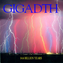 "Gigadth - ""14.6 Billion Years"" CD cover image - Click to read review"
