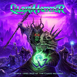 "Gloryhammer - ""Space 1992: Rise of the Chaos Wizards"" CD cover image - Click to read review"