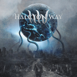 "Halcyon Way - ""Conquer"" CD cover image - Click to read review"