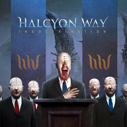 "Halcyon Way - ""IndoctriNation"" CD cover image - Click to read review"