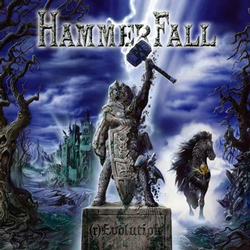 "Hammerfall - ""(r)Evolution"" CD cover image - Click to read review"