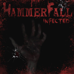 "Hammerfall - ""Infected"" CD cover image - Click to read review"