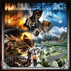 "Hammerforce - ""Dice"" CD cover image - Click to read review"