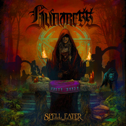 "Huntress - ""Spell Eater"" CD cover image - Click to read review"