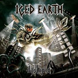 "Iced Earth - ""Dystopia"" CD cover image"