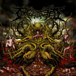 "Ingested - ""Surpassing the Boundaries of Human Suffering "" CD cover image"