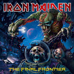 "Iron Maiden - ""The Final Frontier"" CD cover image - Click to read review"